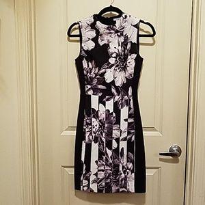 H&M Business Geo Flower Pattern Pencil Dress - 4